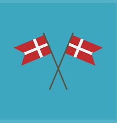 Denmark flag icon in flat design vector