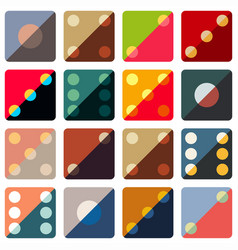 dice colorful background vector image