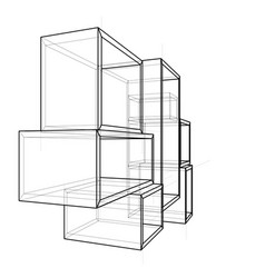 empty showcase outline vector image