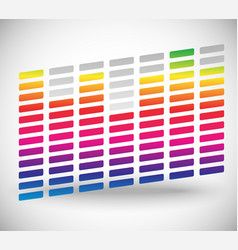eq equalizer with bars editable vector image