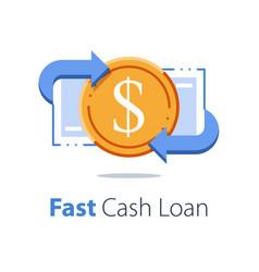 Financial services cash back concept money vector