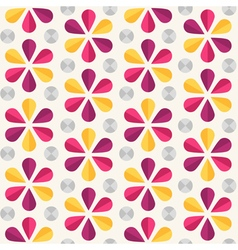 floral seamless pattern origami style vector image vector image