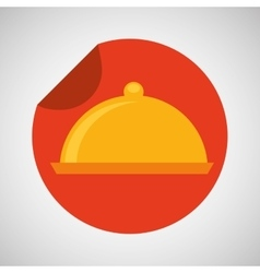 food serving platter icon design vector image