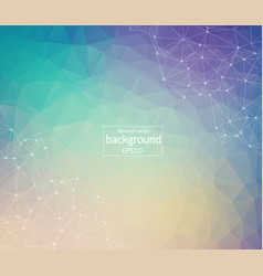geometric colorful light polygonal background vector image