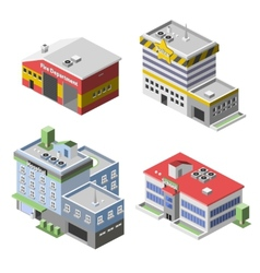 Government Buildings Set vector image