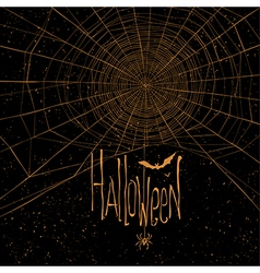 halloween background spider web vector image