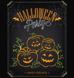 happy halloween party invitation background vector image
