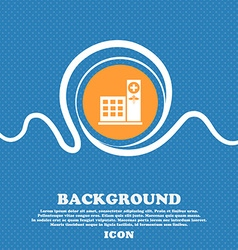 Hospital icon sign Blue and white abstract vector