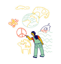 International kids day or peace day concept vector