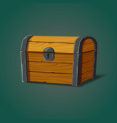 Isolated dower chest or isometric wooden crate vector
