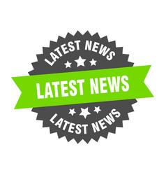 Latest news sign latest news green-black circular vector