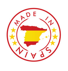 made in spain stamp vector image
