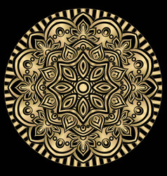 mandala lace ornament in oriental style vintage vector image