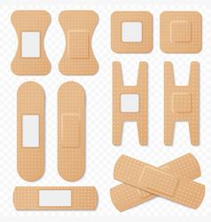 Medical adhesive bandage elastic plasters vector