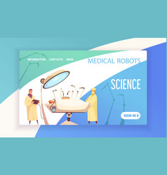 medical robots landing page vector image