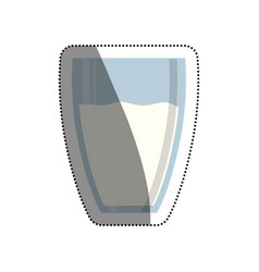 milk glass isolated vector image