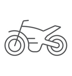 motorcycle thin line icon vehicle and cycle vector image