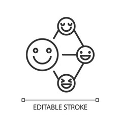 Networking talent linear icon vector