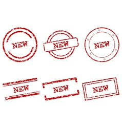 New stamps vector image vector image