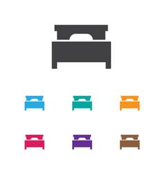 of interior symbol on mattress vector image