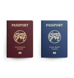 Passport with map asia realistic vector
