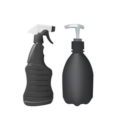 plastic bottle with dispenser and spray vector image