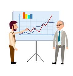 Presentation of financial forecast concept vector