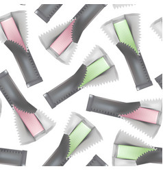 realistic detailed 3d chewing gum sticks seamless vector image