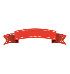 Red long ribbon decorative icon vector