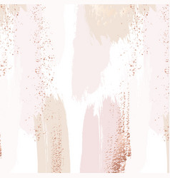 repetition pattern in tender beige pink colors vector image
