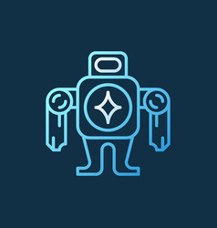 robot concept colorful icon or logo in thin vector image