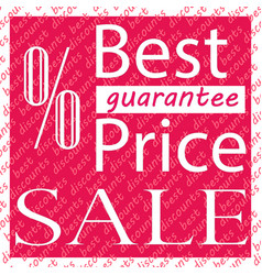 sale best price guaranteed vector image