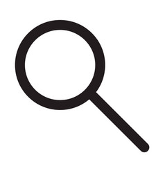 search symbol magnifying glass icon loupe vector image
