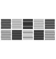 set beautiful abstract seamless patterns vector image