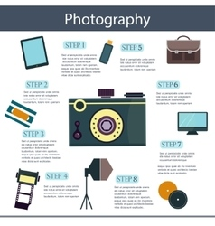 set of colorful photography camera logos vector image