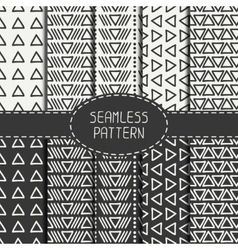 Set of hand drawn geometric monochrome hipster vector image