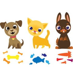 Set of pets vector