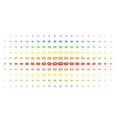 sexy lips spectrum halftone grid vector image