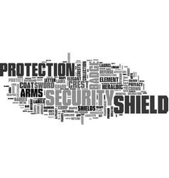 Shield word cloud concept vector