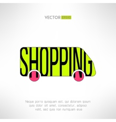Shopping bus symbol Marketing background vector