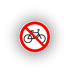 sign no bicycle vector image