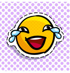Smile crying with laughter vector