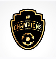 Soccer football champions badge emblem vector