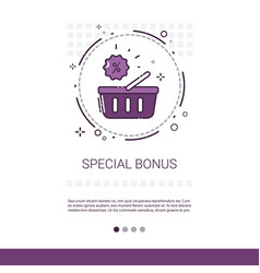 special bonus big sale discount shopping banner vector image