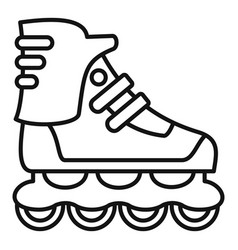Sport inline skates icon outline style vector