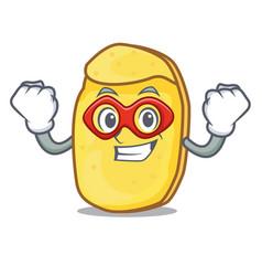 Super hero potato chips character cartoon vector