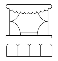 Theater auditorium icon outline style vector image