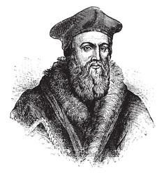 Thomas cranmer vintage vector