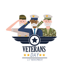 Veterans national day to army forces celebration vector