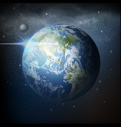 view from space realistic vector image